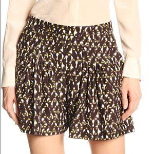 Halston Heritage Charmeuse Printed Shorts Daffodil